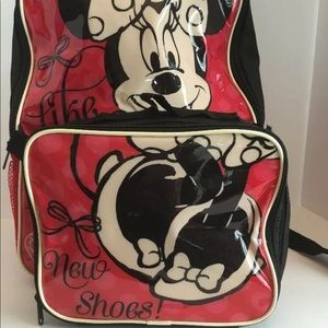 Disney Accessories - Minnie Mouse  backpack with lunchbox